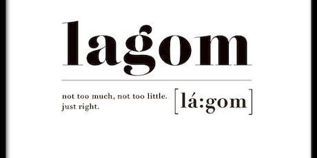 Il concetto di Lagom biglietti