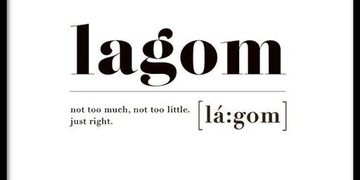 Il concetto di Lagom