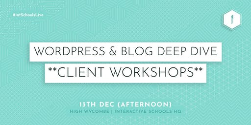 Wordpress & Blog Deep Dive (Client-Exclusive) - AFTERNOON