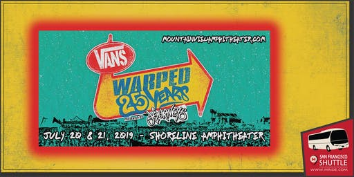 Shoreline Amphitheater Shuttle - Vans Warped Tour (Sunday)