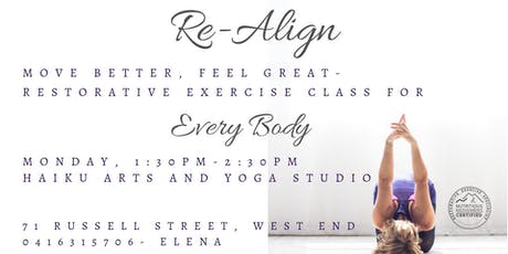 Re-Align with Restorative Exercise tickets