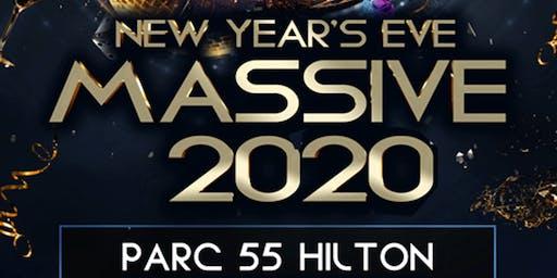 NYE Massive 2020 Parc 55 Hilton Union Square - 5 Cities-1 Night