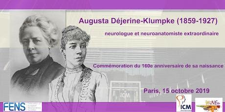 Augusta Déjerine-Klumpke Commémoration du 160e anniversaire de sa naissance billets