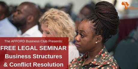 ABC Legal Seminar- Business Structures and Conflict Resolution tickets