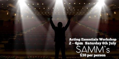 2hr Acting Essentials Workshop tickets