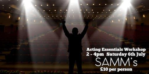 2hr Acting Essentials Workshop