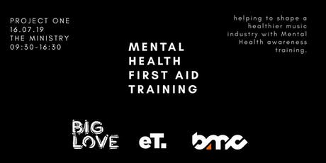 Project One - Mental Health First Aid for the Music Industry tickets