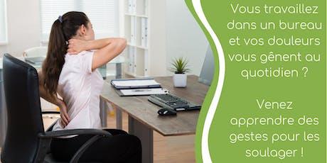 STOP aux douleurs dûes à la posture assise de longue durée ! billets