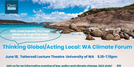 Thinking Global/Acting Local: WA Climate Pollution and Regulation Forum tickets