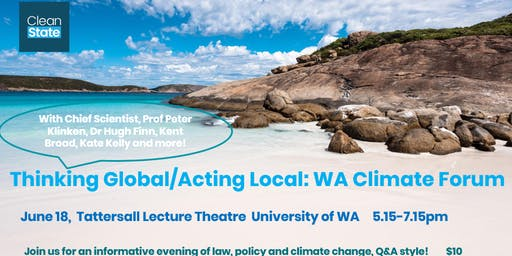 Thinking Global/Acting Local: WA Climate Pollution and Regulation Forum
