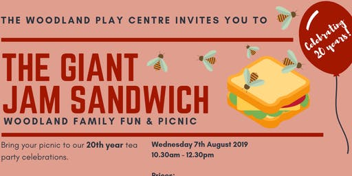 "Woodland Family Fun - ""The Giant Jam Sandwich"" and picnic"
