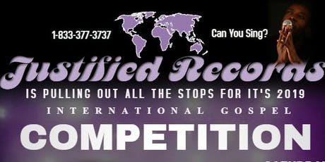 Justified Records' 2019 International Gospel Competition tickets