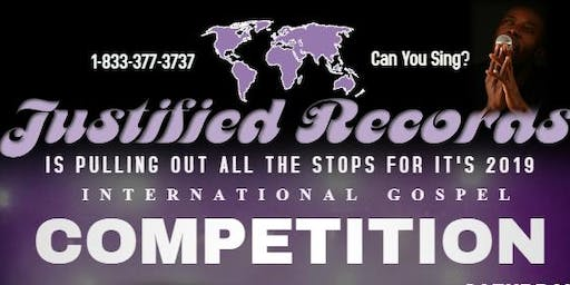 Justified Records' 2019 International Gospel Competition