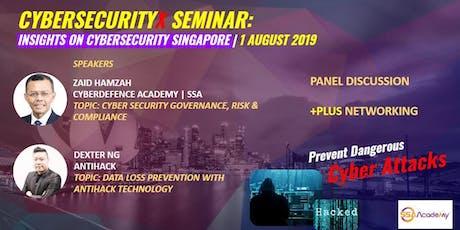 CybersecurityX Seminar 2019 (Register FREE)8 tickets