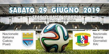 Nazionale Italiana Poeti VS Nazionale Italiana Giornalisti RAI biglietti