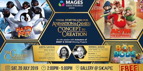 Visual Storytelling for Animation & Games: Concept to Creation tickets