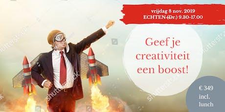 Geef je creativiteit een BOOST! (Raymond van Driel) tickets