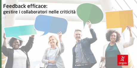 Feedback efficace: gestire i collaboratori nelle criticità biglietti