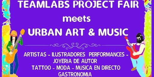 TeamLabs Project Fair meets Urban Art & Music