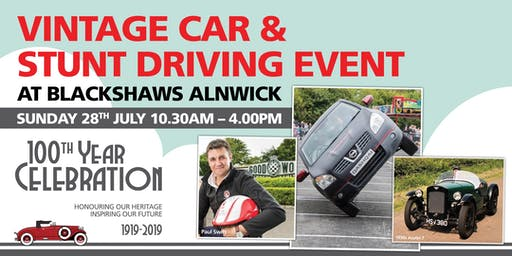 Vintage Car & Stunt Driving Event at Blackshaws