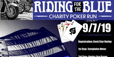 RIDING FOR THE BLUE- CHARITY POKER RUN tickets