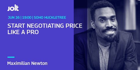 Start Negotiating Price Like A Pro tickets