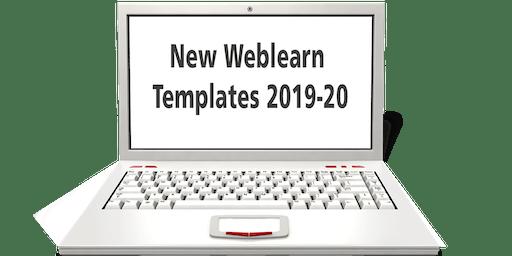 New Weblearn Templates 2019-20