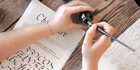 Kalligraphie für Anfänger – vierteiliger Kurs | Workshops billets
