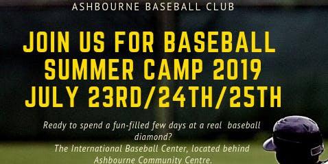 Ashbourne Baseball Summer camp