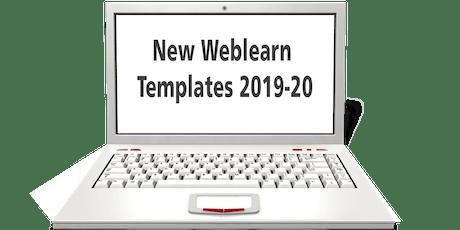 New Weblearn Templates 2019-20 tickets