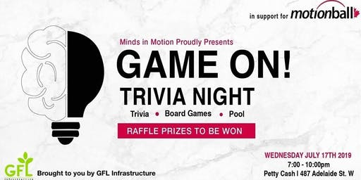 GAME ON! Trivia Night in Support of motionball