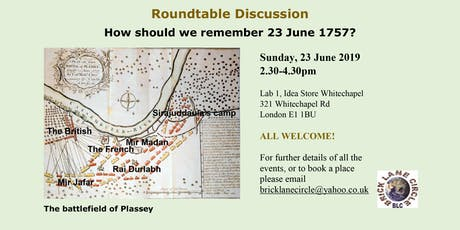 How should we remember on 23 June 1757? - ROUNDTABLE DISCUSSION   tickets