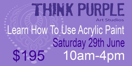 Learn how to paint with Acrylic paint tickets