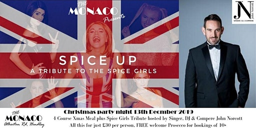 Spice Girls Tribute - Christmas Party Night with Compere John Norcott