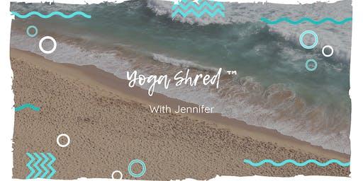 Yoga Shred ™ at the Beach!