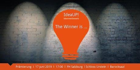 IdeaUP! Ideenwettbewerb I PRÄMIERUNG Tickets