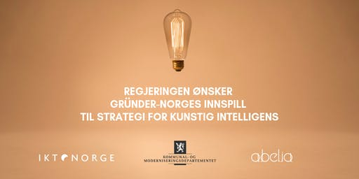 Regjeringen ønsker gründer-Norges innspill til strategi for kunstig intelligens
