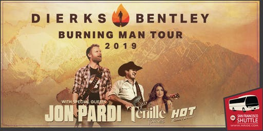 Dierks Bentley Party Bus to Shoreline Amphitheater