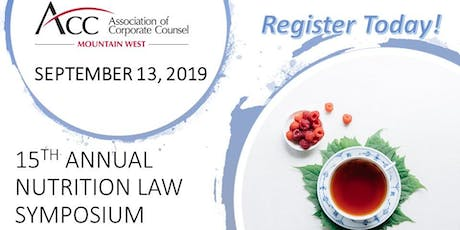 Nutrition Law Symposium 2019, ACC Mountain West (15th Annual) tickets