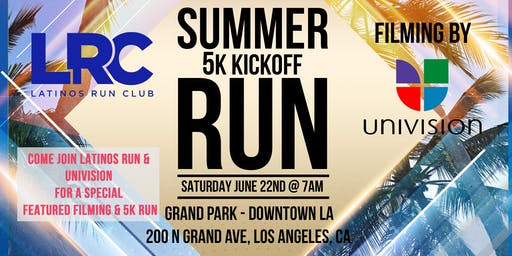5k Run & Special Filming with Latinos Run & Univision LA