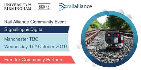 Rail Alliance Community event: Signalling & Digital tickets