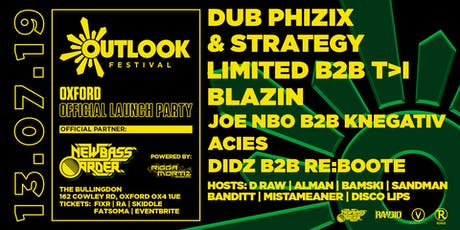 Outlook Festival Oxford Launch tickets