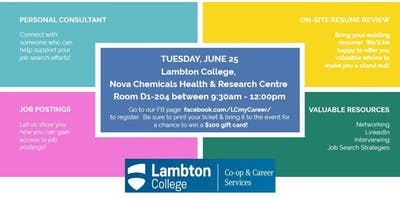 LAMBTON COLLEGE GRADS! Connect to Your Career \