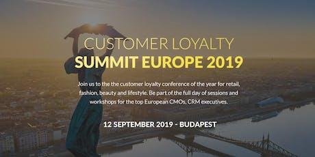 Customer Loyalty Summit Europe 2019 tickets