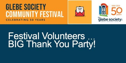Festival Volunteer BIG Thank You Party!