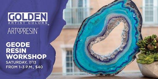Geode Resin Workshop at Blick Miami