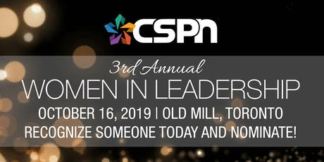 CSPN 3rd Annual Women in Leadership Awards Gala 2019 tickets