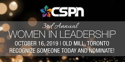CSPN 3rd Annual Women in Leadership Awards Gala 2019