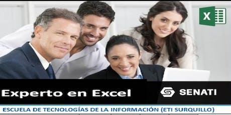 Inicio de clases de Experto en Excel biglietti