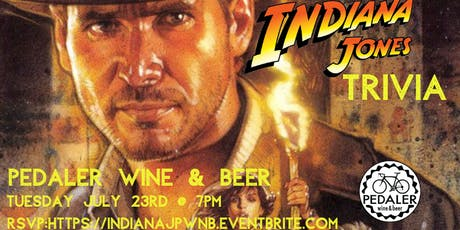 Indiana Jones Trivia at Pedaler Wine & Beer tickets